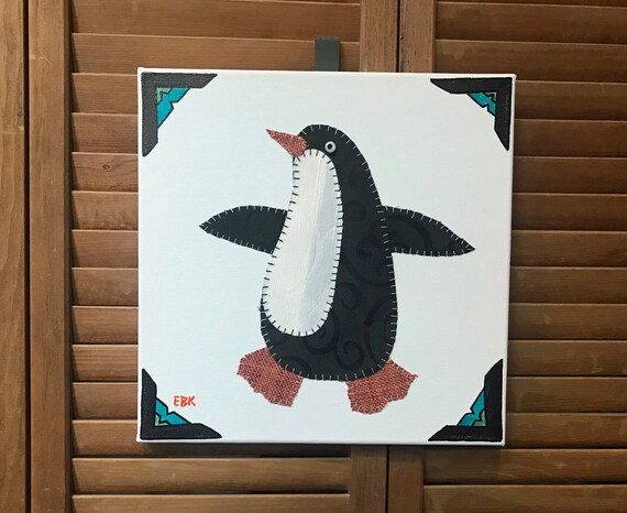 Penguin #6 Fabric Wall Art