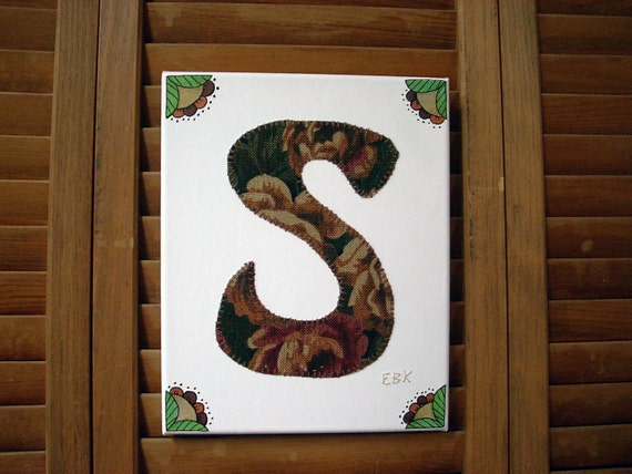 Initial S #1 Fabric Wall Art