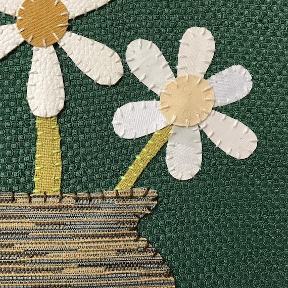 Daisy Vase #2 Fabric Wall Art