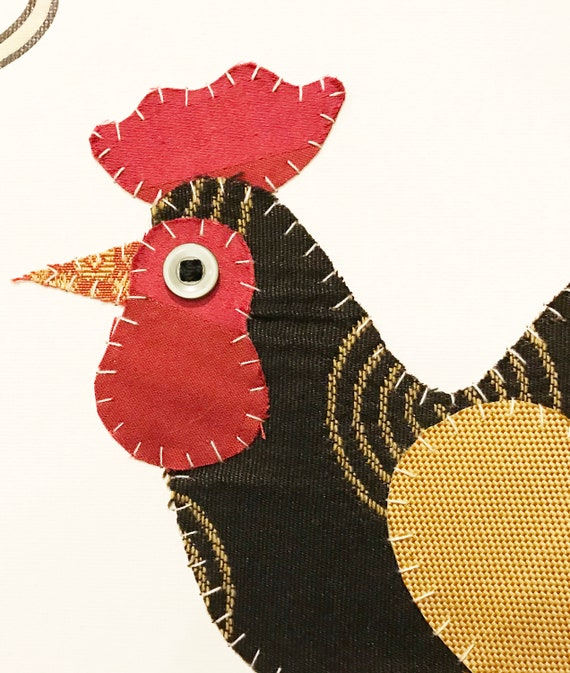 Rooster #4 Fabric Wall Art