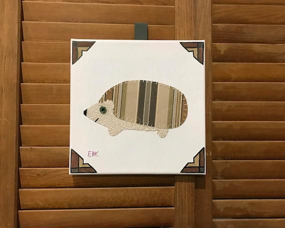 Hedgehog #5 Fabric Wall Art