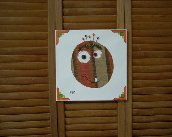 Monster Head #2 Fabric Wall Art
