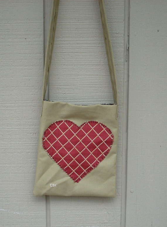 Heart #2 Small Tote Fabric Art