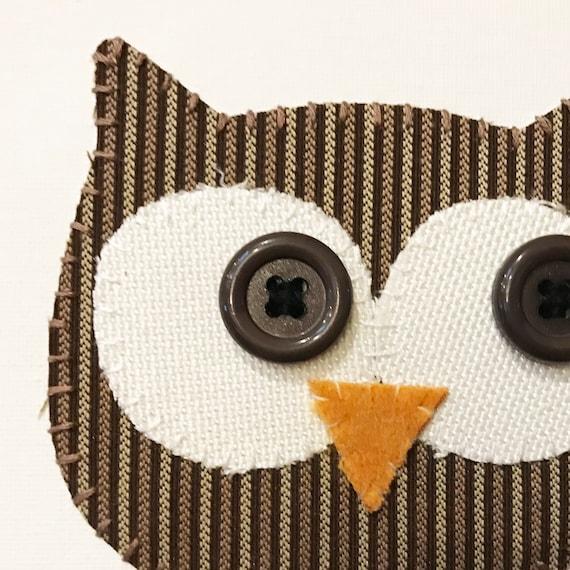 Owl Head #6 Fabric Wall Art