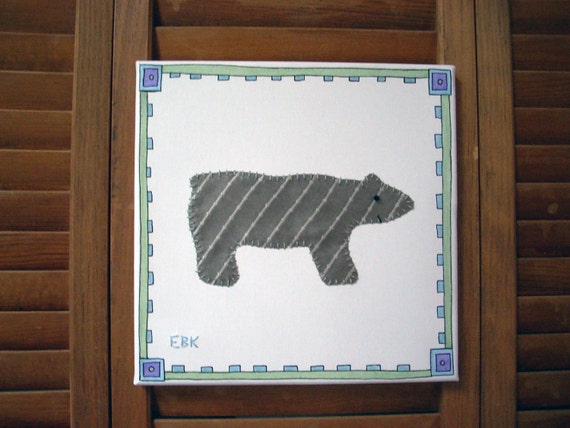 Polar Bear #2 Fabric Wall Art