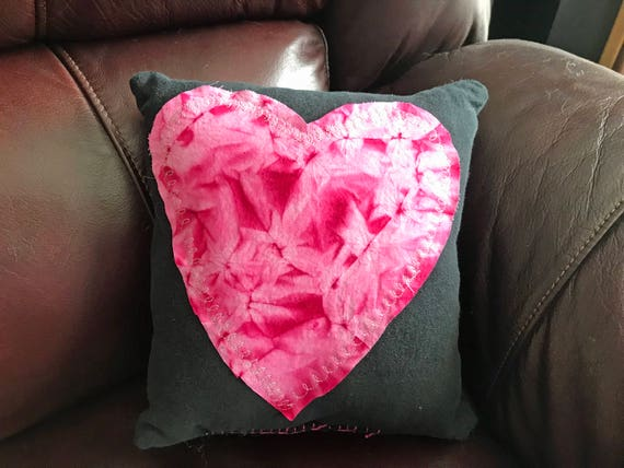 Repurposed Clothes Small Heart Pillow #1
