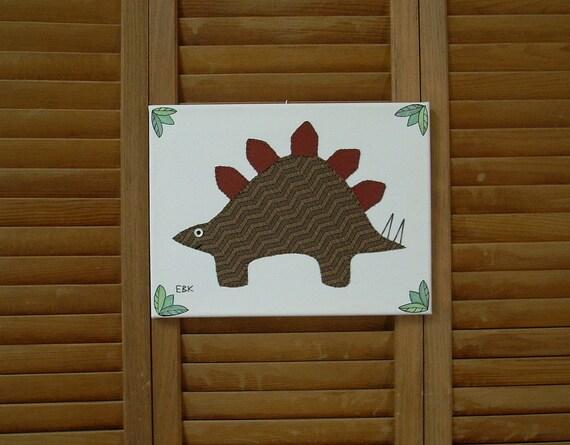 Stegosaurus #2 Fabric Wall Art
