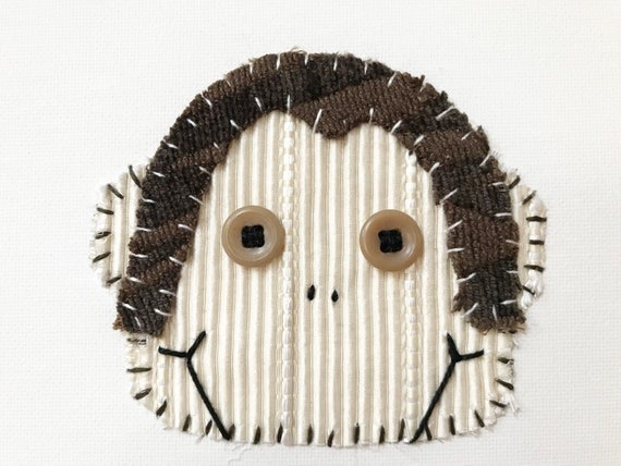 Monkey Head #2 Fabric Wall Art