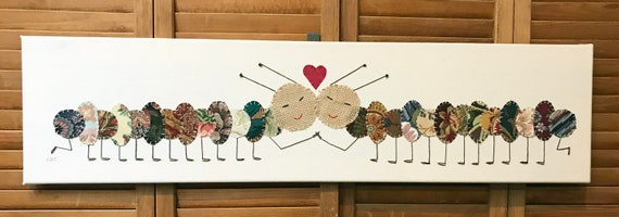Caterpillar Love #1 Fabric Wall Art