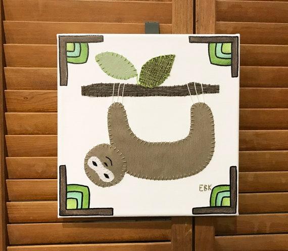 Sloth #7 Fabric Wall Art