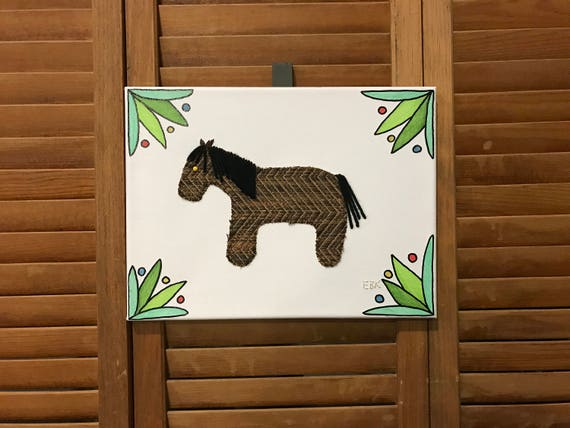 Pony #1 Fabric Wall Art