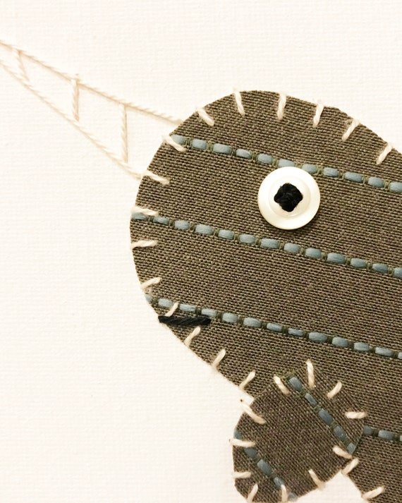 Narwhal #5 Fabric Wall Art