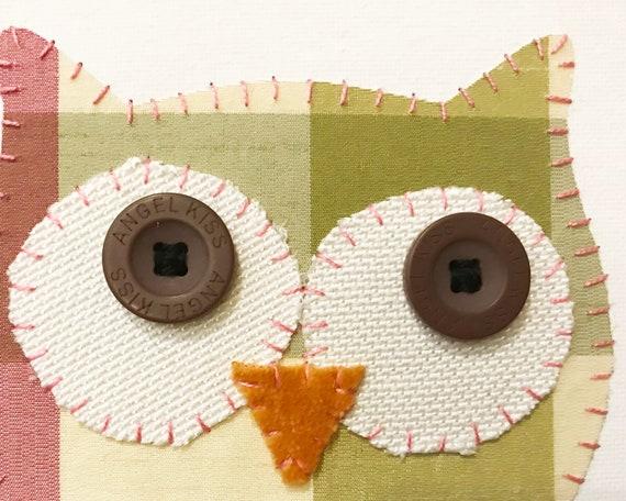 Owl Head #7 Fabric Wall Art