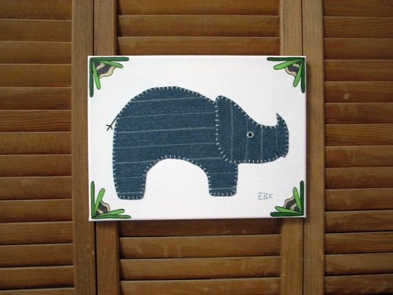 Triceratops #2 Fabric Wall Art