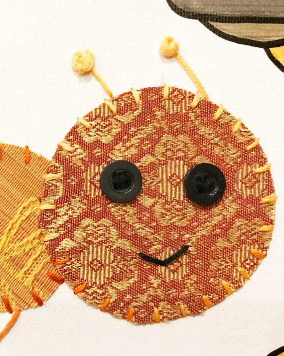 Baby Inchworm #9 Fabric Wall Art
