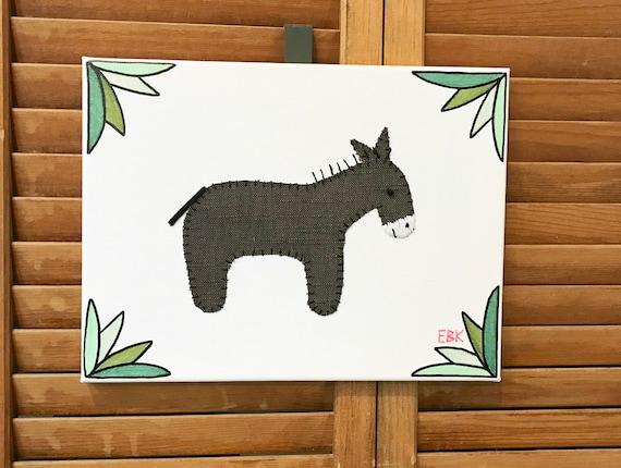 Donkey #2 Fabric Wall Art