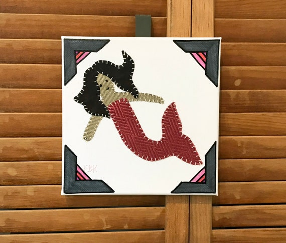 Small Mermaid #3 Fabric Wall Art