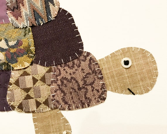 Side Turtle #8 Fabric Wall Art