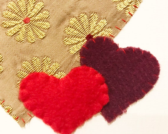 Hearts #7 Fabric Wall Art