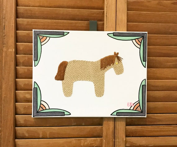 Pony #4 Fabric Wall Art