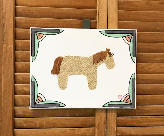 Pony #4 Fabric Wall Art