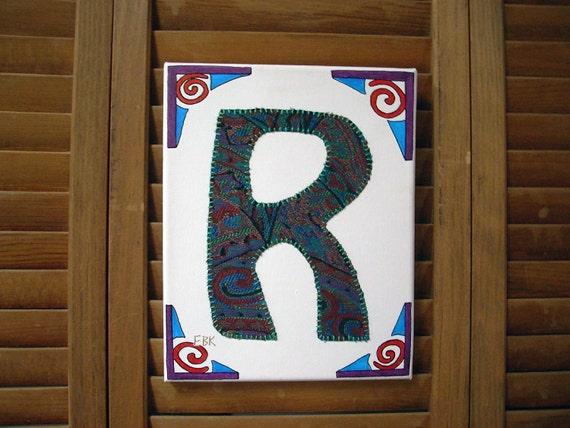 Initial R #2 Fabric Wall Art