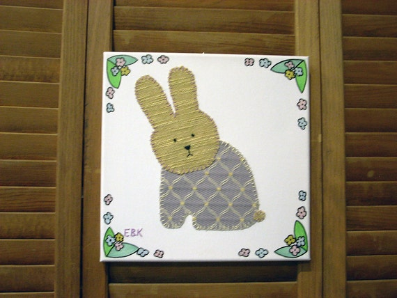 Sitting Bunny #2 Fabric Wall Art
