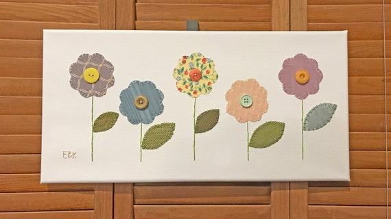 Garden Flowers #5 Fabric Wall Art