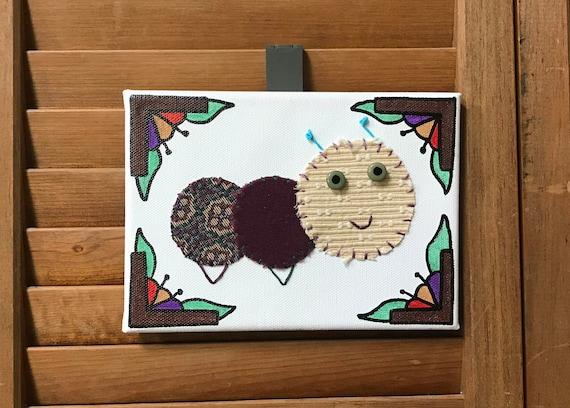Baby Inchworm #20 Fabric Wall Art