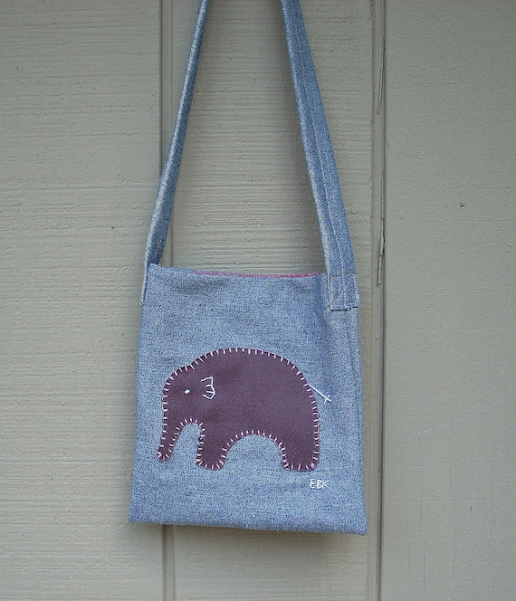 Baby Elephant #6 Small Tote Fabric Art