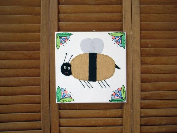 Bee #2 Fabric Wall Art