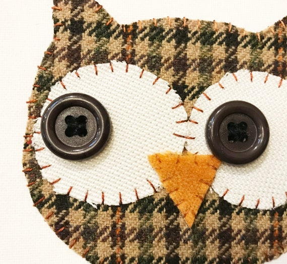 Owl Head #8 Fabric Wall Art