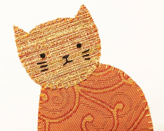 Sitting Cat #12 Fabric Wall Art