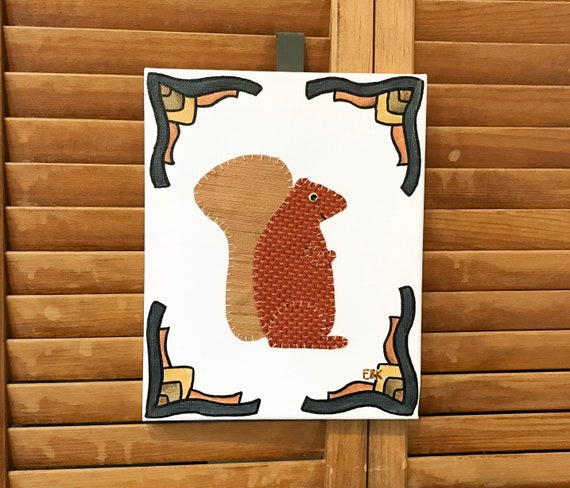 Squirrel #4 Fabric Wall Art