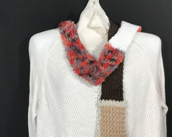 Wrap Scarf-Thin Patch Red and Brown