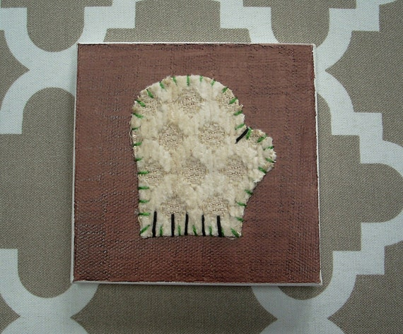 Tiny Mitten #1 Fabric Wall Art