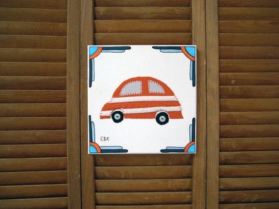 Car #5 Fabric Wall Art
