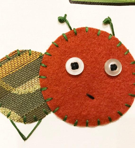 Baby Inchworm #33 Fabric Wall Art