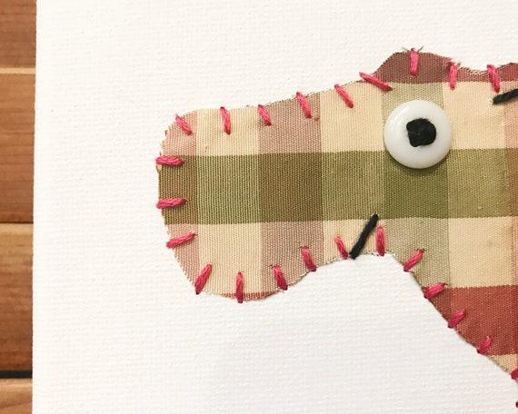 Hippo #10 Fabric Wall Art