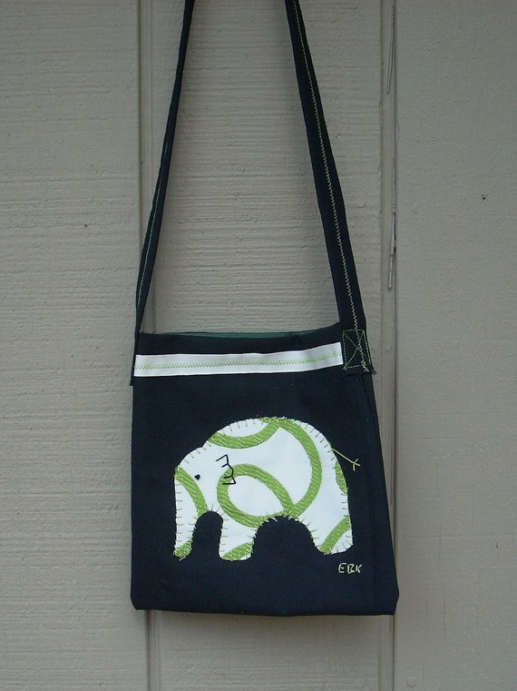 Baby Elephant #5 Small Tote Fabric Art