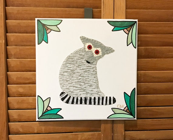 Lemur #2 Fabric Wall Art