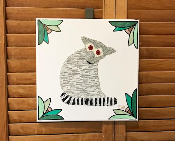 Lemur #2 Fabric Wall Art