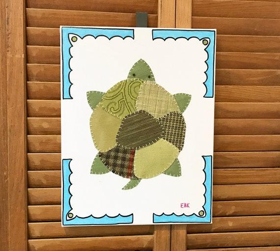 Turtle #3 Fabric Wall Art
