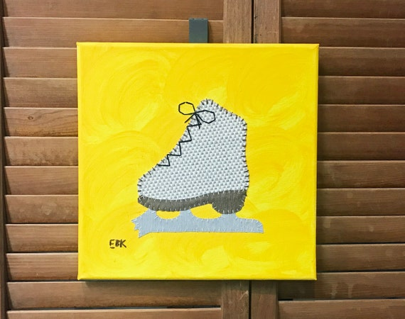 Figure Skate #3 Fabric Wall Art
