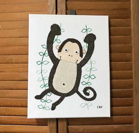 Monkey #5 Fabric Wall Art