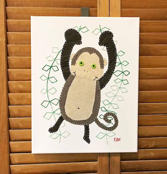 Monkey #6 Fabric Wall Art