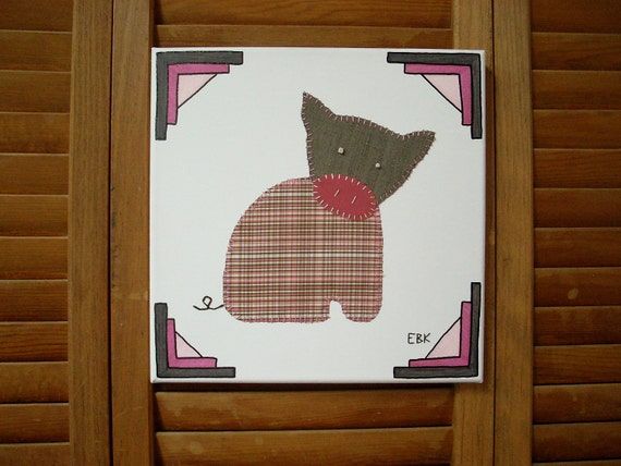 Sitting Piglet #2 Fabric Wall Art