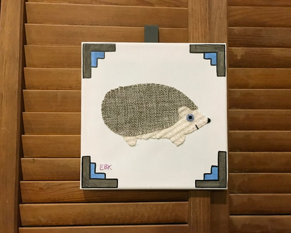 Hedgehog #6 Fabric Wall Art