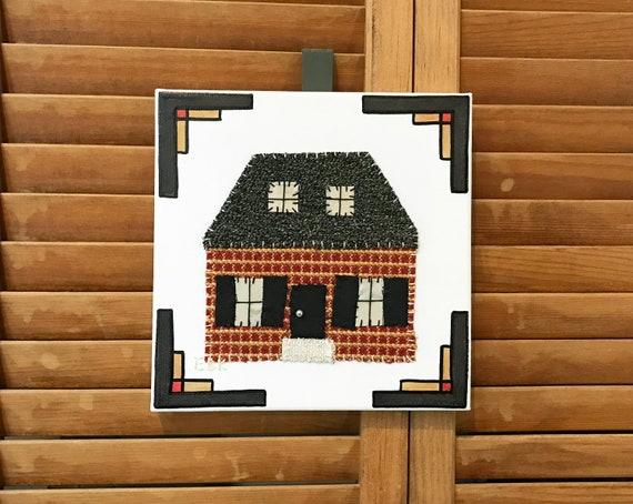 House #1 Fabric Wall Art