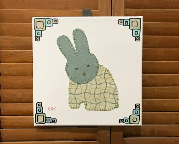 Sitting Bunny #3 Fabric Wall Art